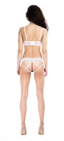 Prey White Backless Knicker