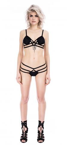 Raw Black Strap Soft Bra