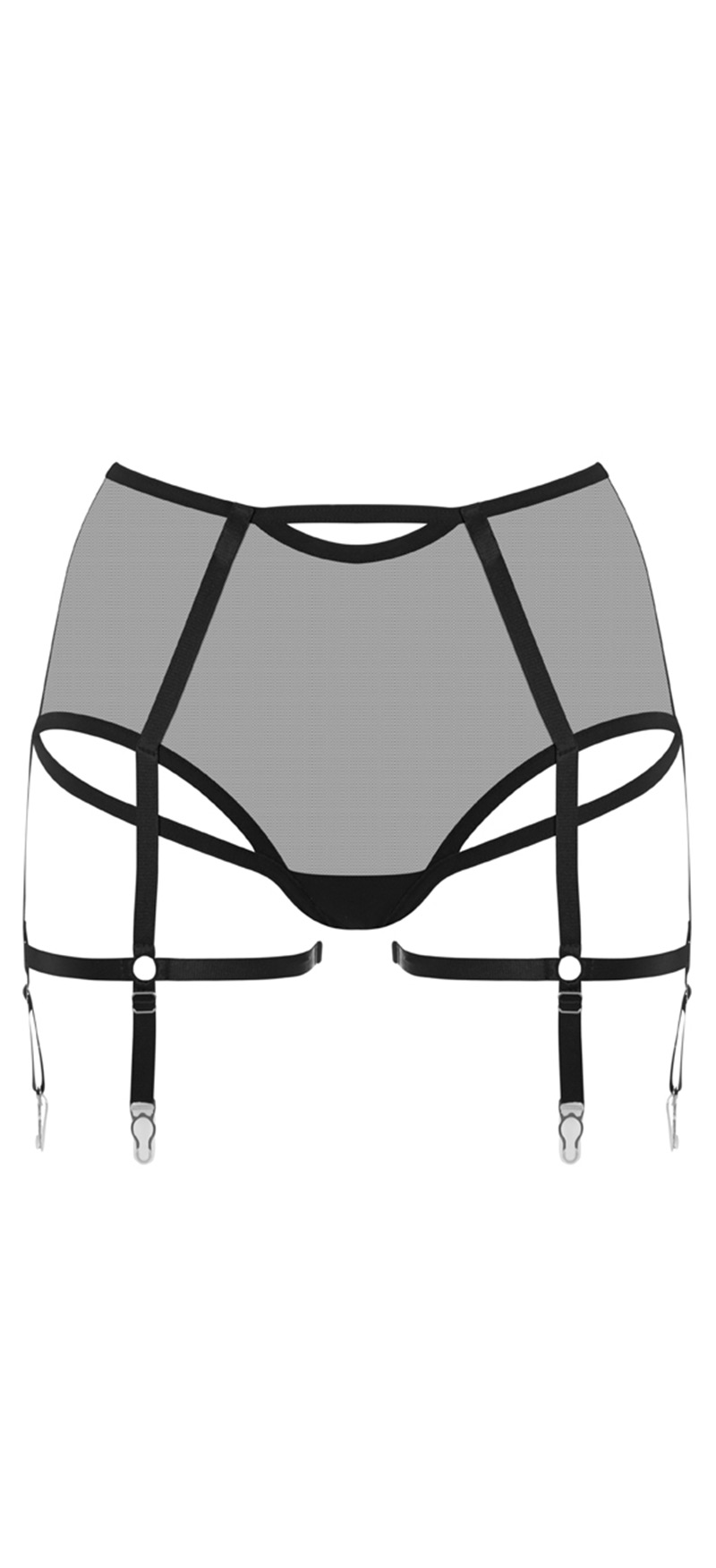5b0b617e0fb Prey Black High Waisted Suspender Knickers
