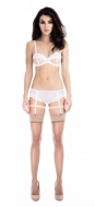 Prey White Full Suspender Knicker
