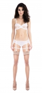Prey White Backless Suspender Knicker