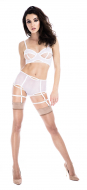 Prey White High Waisted Suspender Knickers