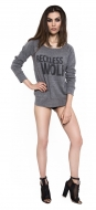 Reckless Wolf Wideneck Sweatshirt