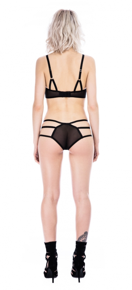 Raw Black Strap Knicker