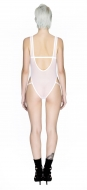 Sheer Force High Leg White Body