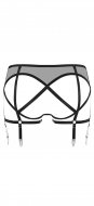 Prey Black Backless Suspender Knicker